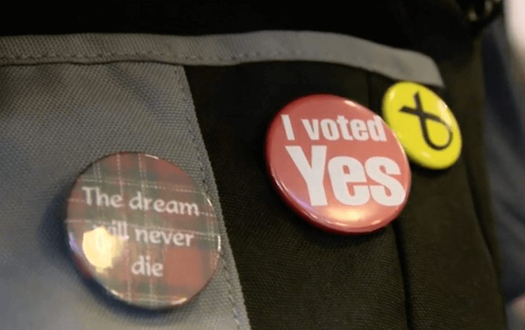 Referendum badges, independence