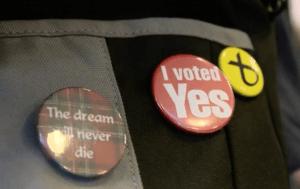 Referendum badges, independence
