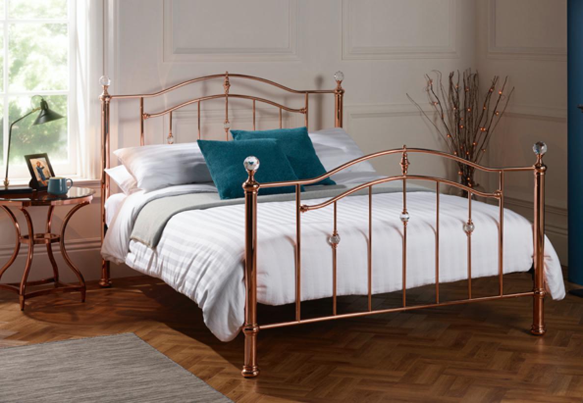 Rose gold bed