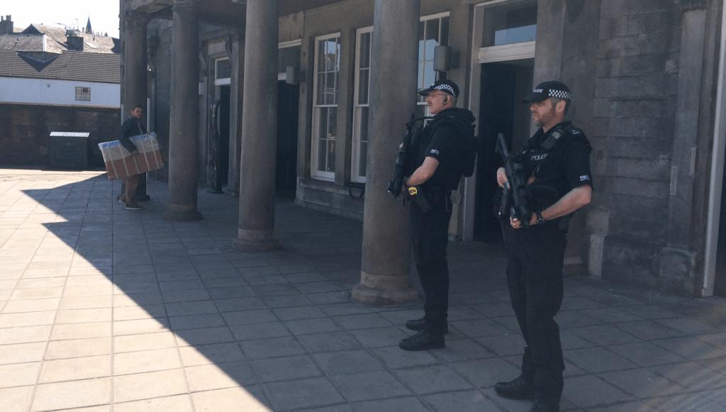 Armed police at Haymarket