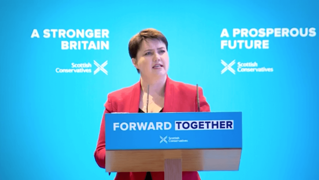 Ruth Davidson: appealed to Labou