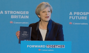 Theresa May unveils manifesto
