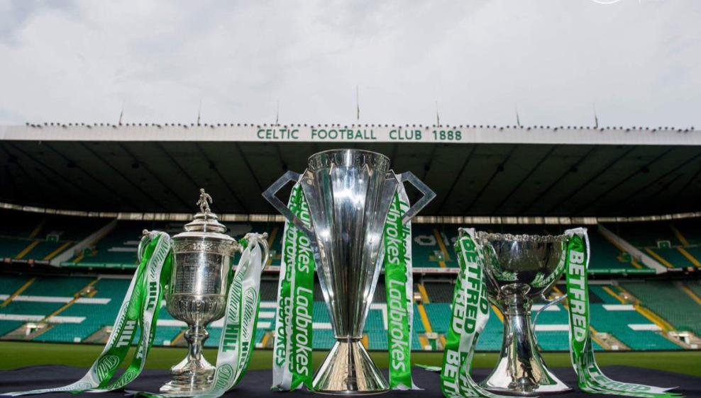 celtic's three trophies