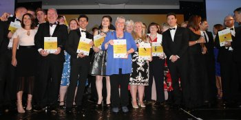 Lynne McNicoll with Scottish Home Awards winners