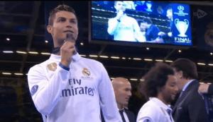 Ronaldo with medal
