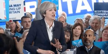 Theresa May in Edinburgh