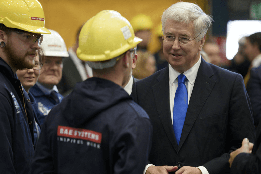 Sir Michael Fallon at BAE Systems