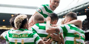 Celtic celebrate opening goal