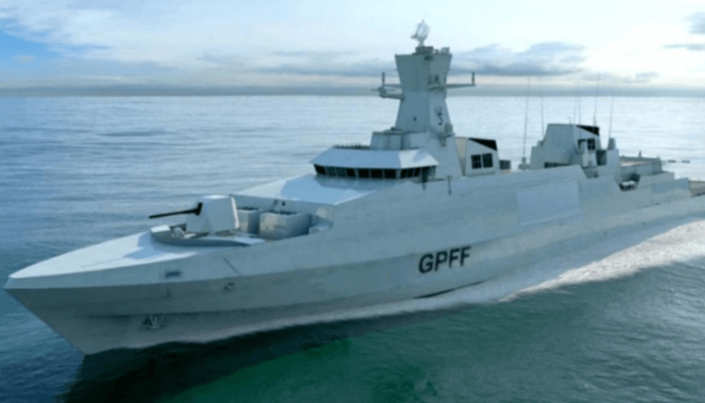 Impression of Type 31 frigate