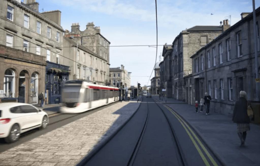 Tram in Constitution Street