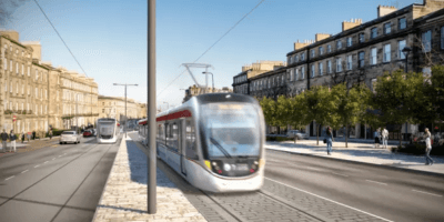 Tram in Leith Walk