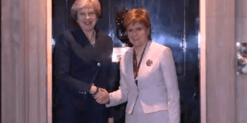 Sturgeon and May at Downing Street