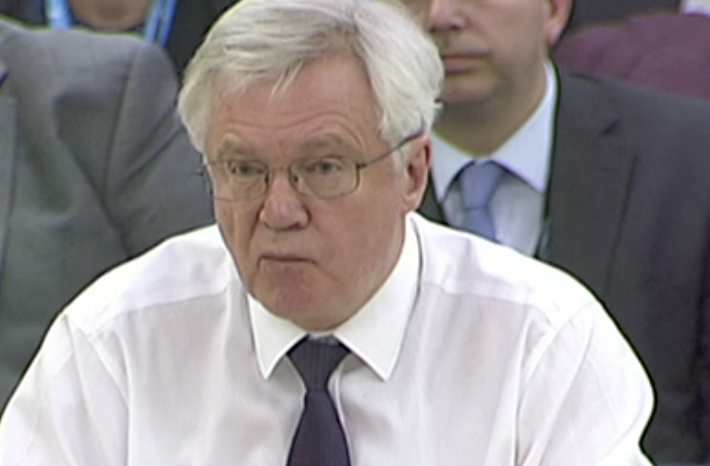David Davis at Brexit committee