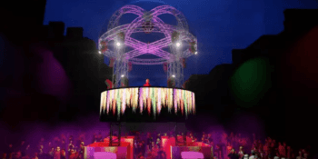 Artist's impression of floating stage