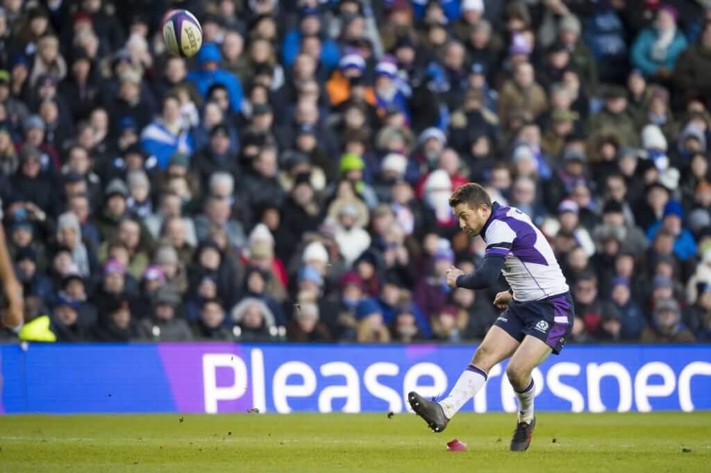 Greig Laidlaw kicks Scots ahead v France