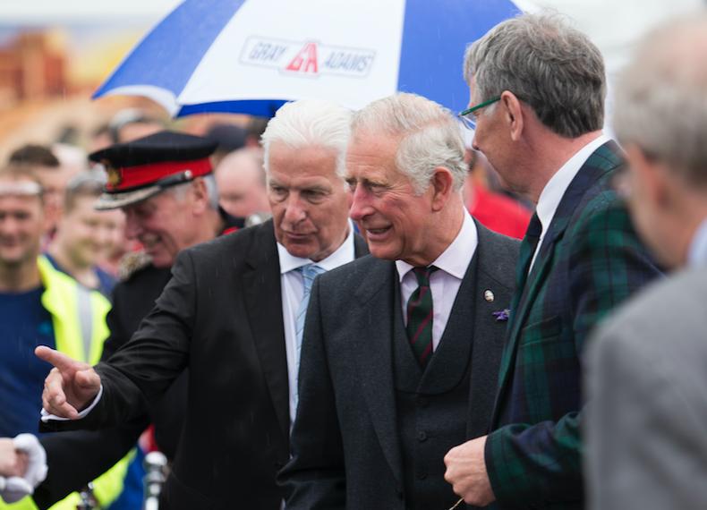 Prince Charles meets staff at Gray & Adams