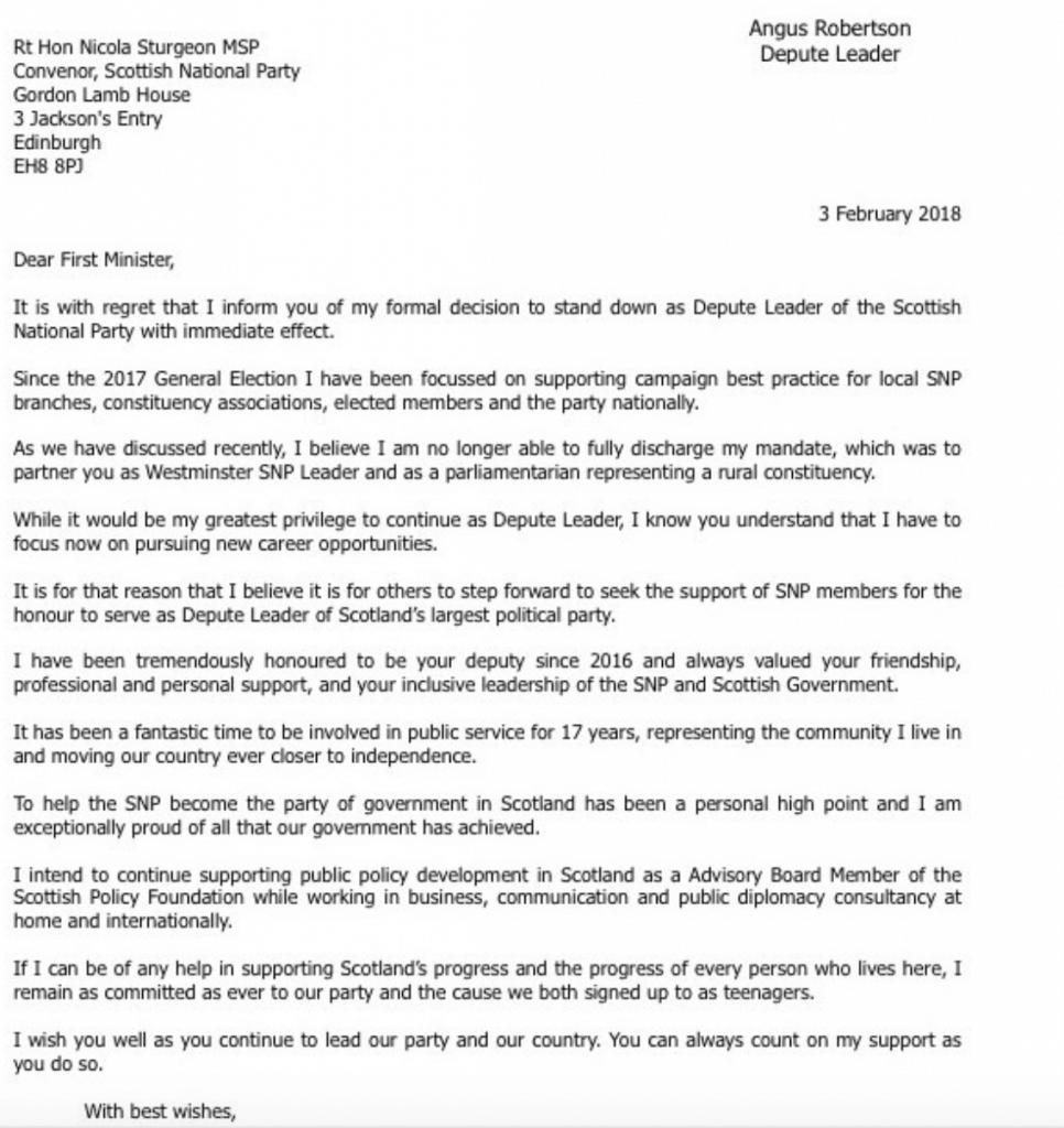 Robertson letter