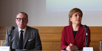 Banker Benny Higgins and First Minister Nicola Sturgeon