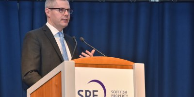 Derek Mackay addressing Scottish Property Federation