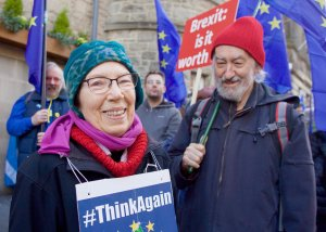 Anti-Brexit rally in Edinburgh