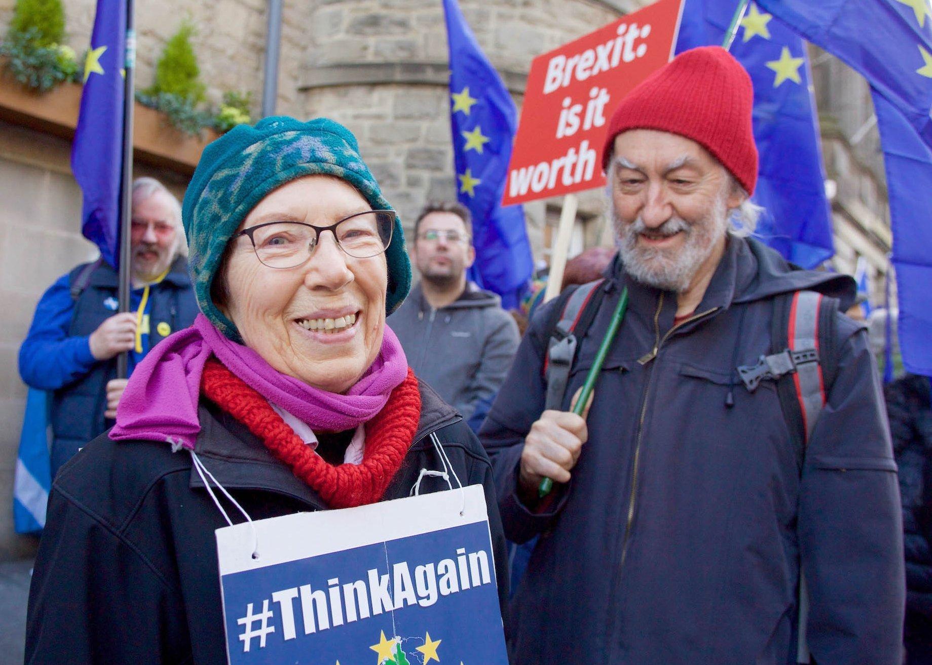 Anti-Brexit rally in Edinburgh