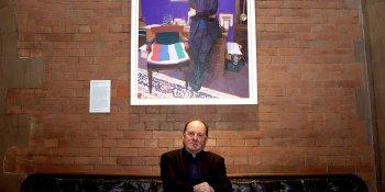 Jim Naughtie with portrait