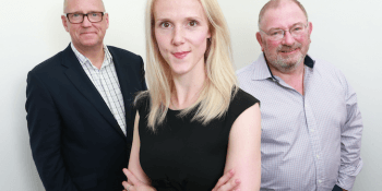 John Anderson, Kirsty Mackenzie and George Elliott of iMultiply