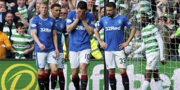 Rangers players despair