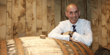 Ian Curle with sherry casks