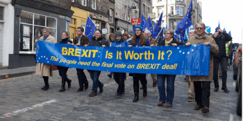 Brexit protest and march