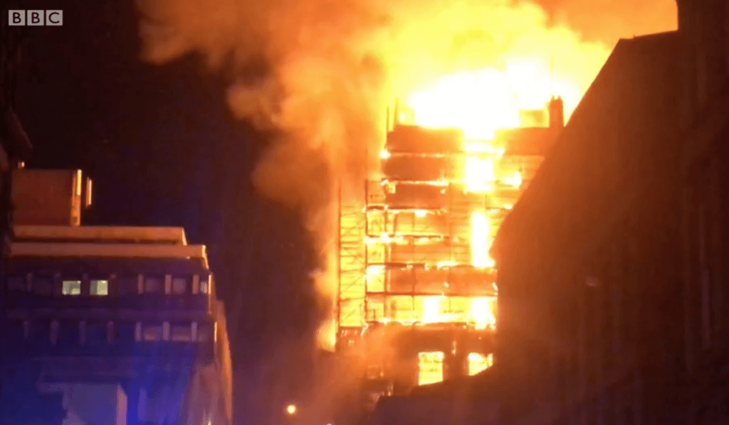 Glasgow School of Art fire 15 June 2018