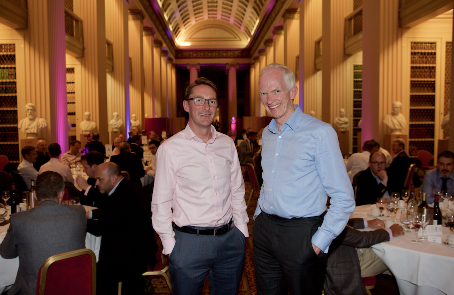 Patrick Graham and Stephen Welton at BGF dinner