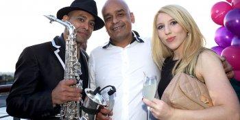 Shaf Rasul with Saxingh and Kirsten McMillan