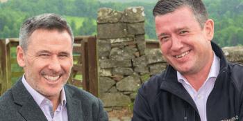 Gordon Brown and Charlie Boisseau