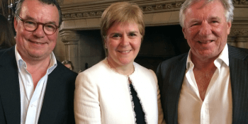 Keith Skeoch, Nicola Sturgeon and Martin Gilbert