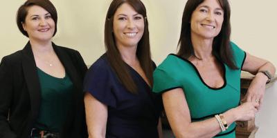 Jackie Anderson, Fiona Todd and Nicki Denholm of Denholm Associates