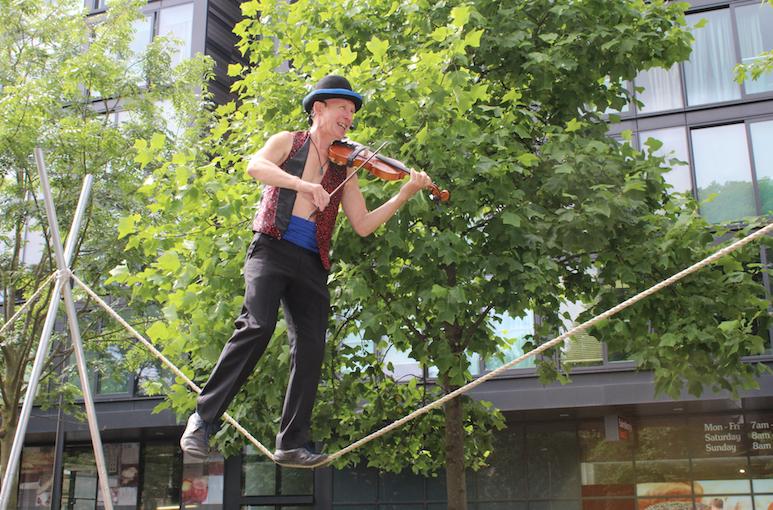 Tightrope walker, Edinburgh Festival