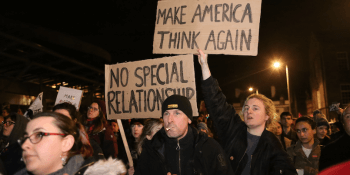 Trump protest last year