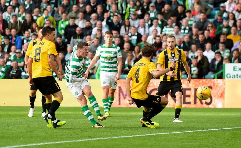 Callum McGregor opens the scoring against AEK Athens