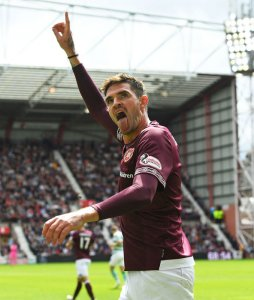 Kyle Lafferty was the match-winner against Celtic at Tynecastle