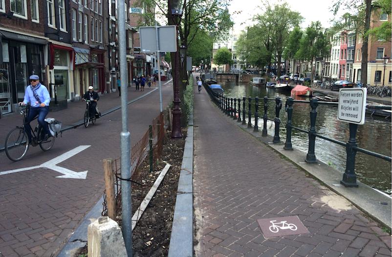 Amsterdam cycle lane