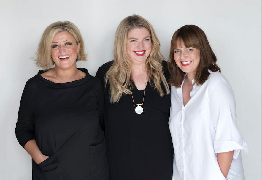 Ashley Davies, Sara Hill and Jen Crichton-Gibson, Hood writers