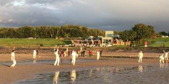 Edinburgh staged its first beach cricket match at Cramond