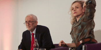 Jeremy Corbyn and Maxine Peake at Edinburgh Television Festival
