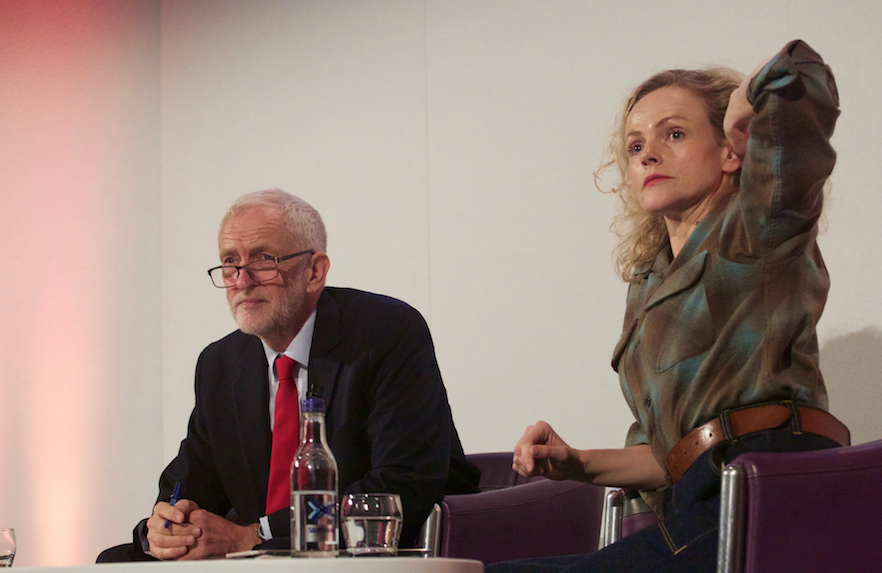 Jeremy Corbyn and Maxine Peake at Edinburgh Television Festival