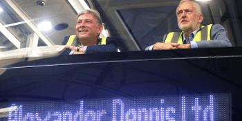 Leonard and Corbyn at Alexander Dennis