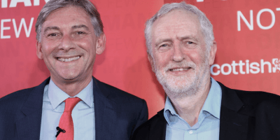 Richard Leonard and Jeremy Corbyn at Penicuik