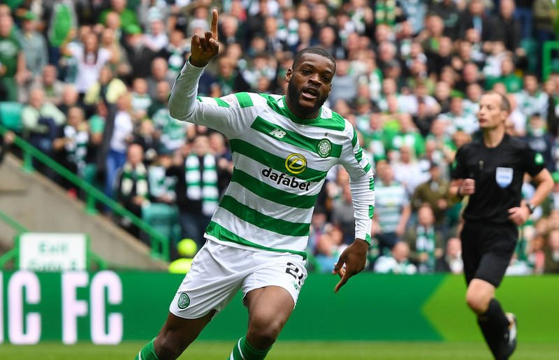 Olivier Ntcham opened the scoring for Celtic against Rangers at Parkhead