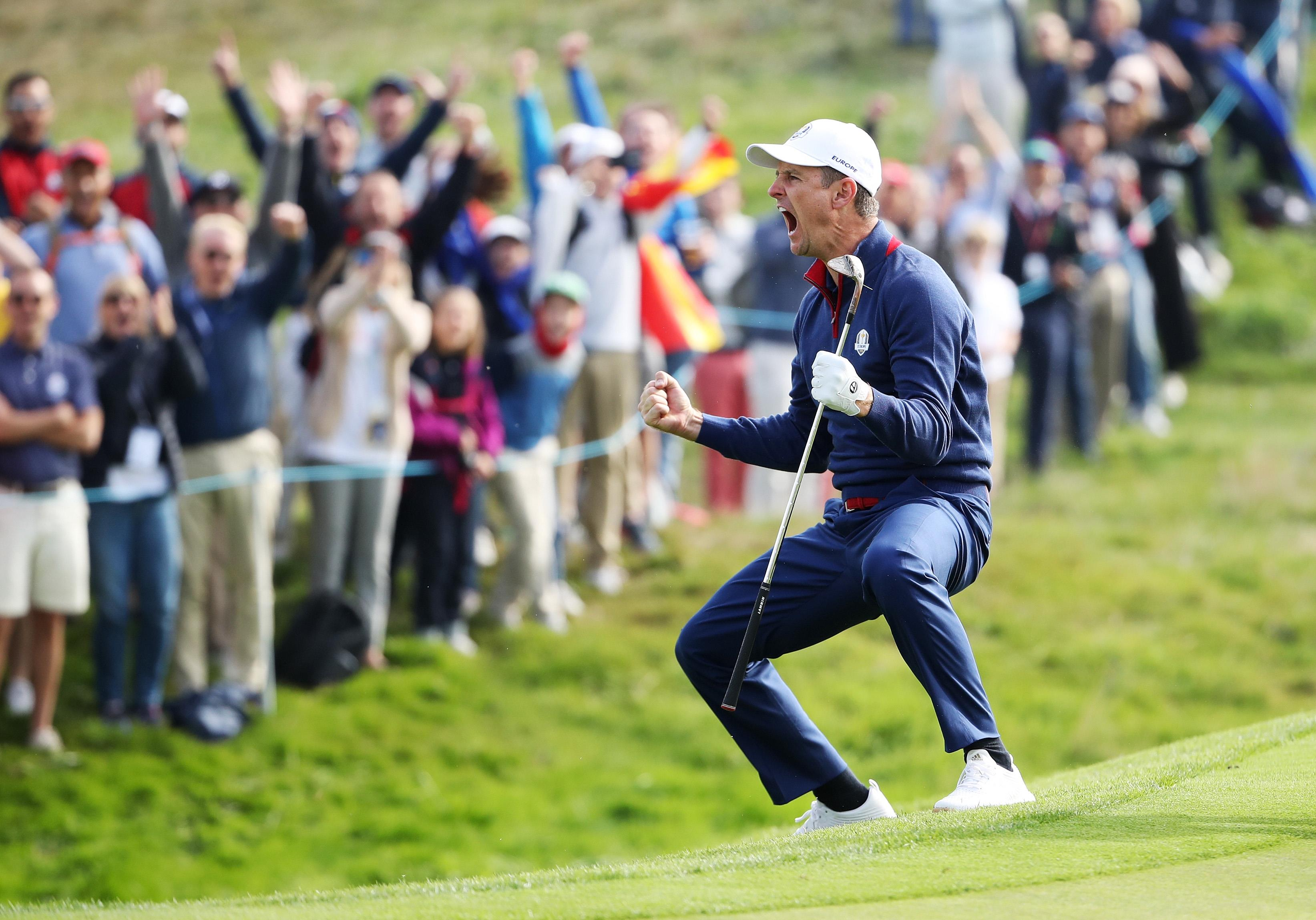 Justin Rose helped Europe to an historic Ryder Cup foursomes whitewash