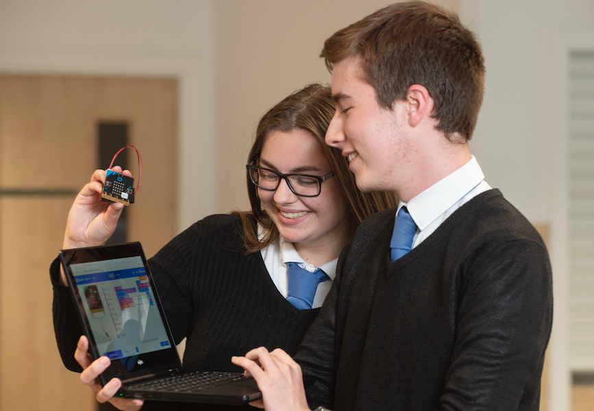 Data Science Workshop Pupils at Newbattle High School